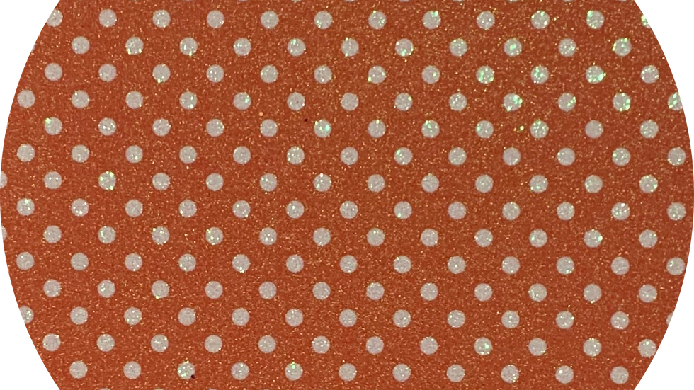 Luxe Glitter Polka Dots ~Orange ~ 1.05mm Thickness