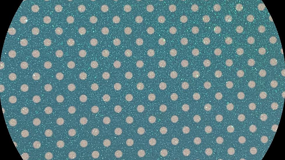 Luxe Glitter Polka Dots ~Tiffany ~ 1.05mm Thickness