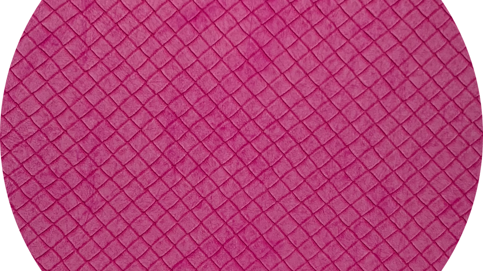 Pink Waffle Texture ~ Soft Luxe Leatherette ~ 1.0mm Thickness