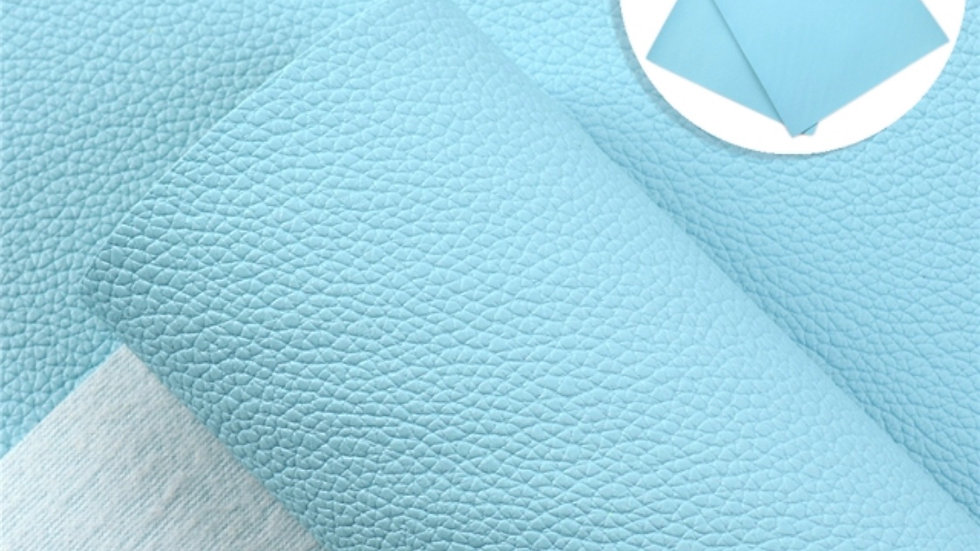 Fine Luxe Grain Litchi ~ Baby Blue