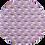 Thumbnail: lavender Rainbows ~ Smooth Leatherette