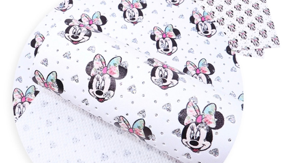 Minnie Mouse Faux Leather ~ Hearts