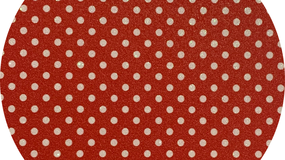 Luxe Glitter Polka Dots ~Red ~ 1.05mm Thickness