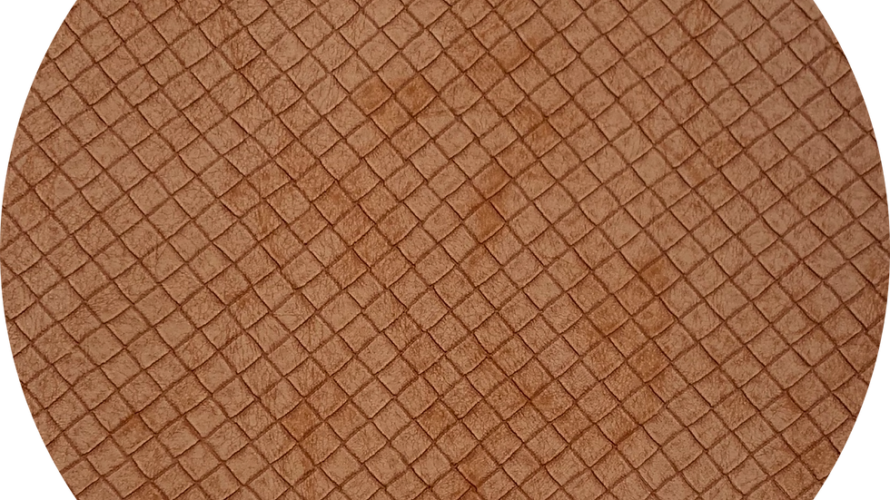 Brown Waffle Texture ~ Soft Luxe Leatherette ~ 1.0mm Thickness