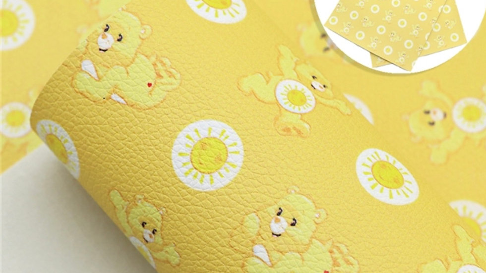 Care Bears Luxe Grain Litchi ~ Yellow