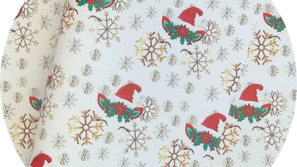 Christmas  Unicorn ~ Luxe grain Litchi