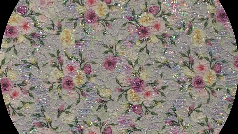 floral Glitter & Lace ~ Purple