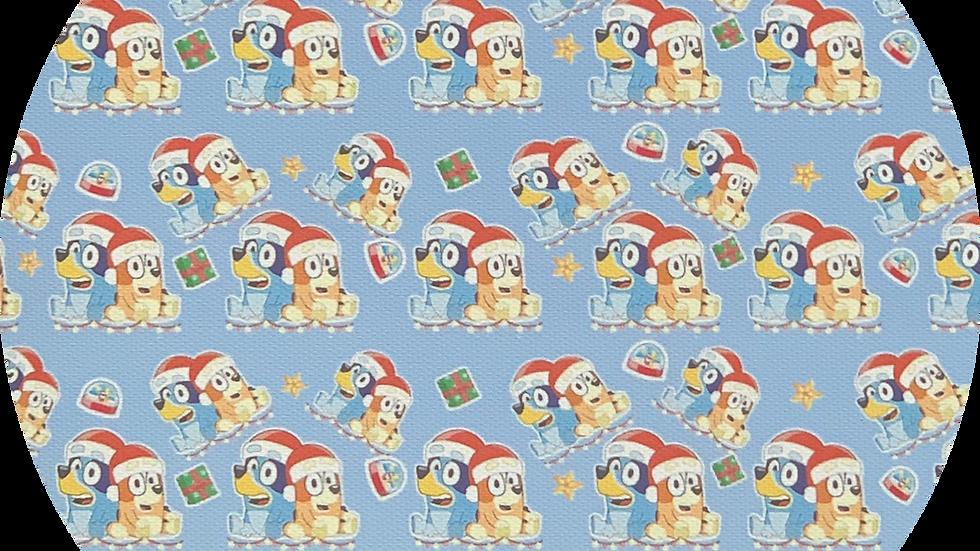 Custom Print ~ Canvas ~ Christmas ~ Blue Background