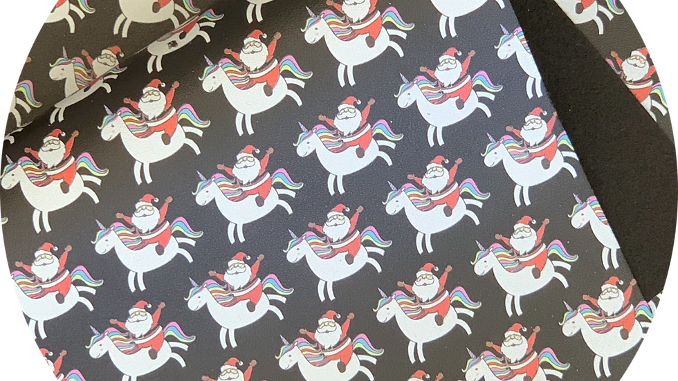 Santa's Unicorn  ~ Smooth Luxe Faux Leather