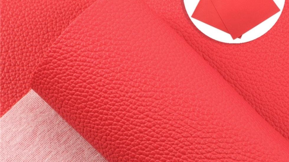 Fine Luxe Grain Litchi ~ Red
