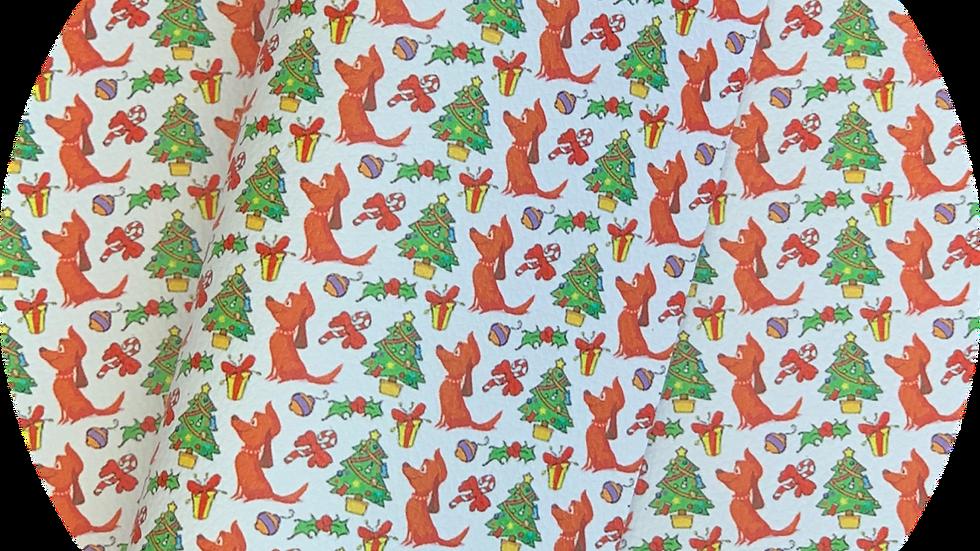 Christmas Dog~ luxe Grain Litchi