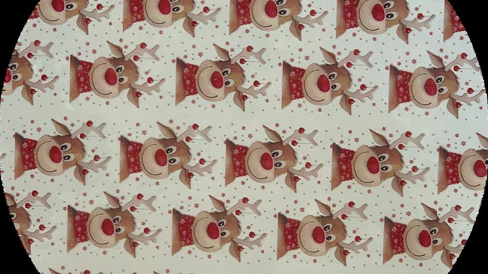 Transparent ~ Red Rudolph