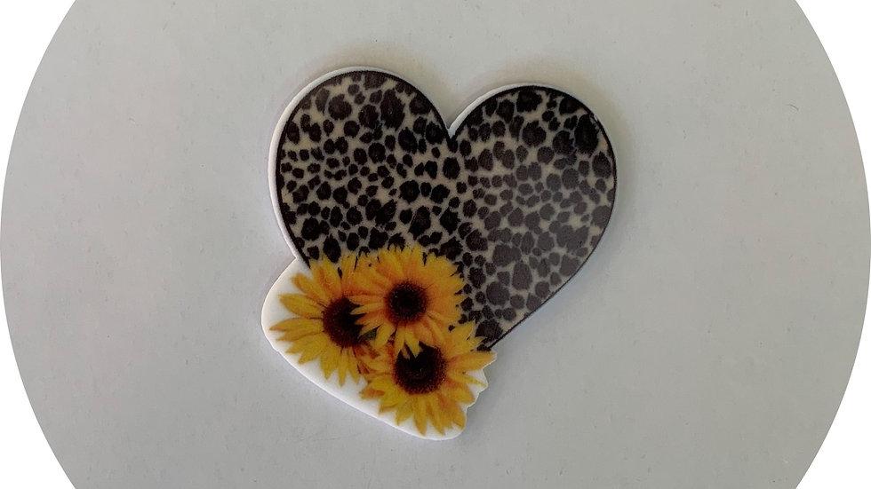 Leopard Print Heart ~ Planar Resin