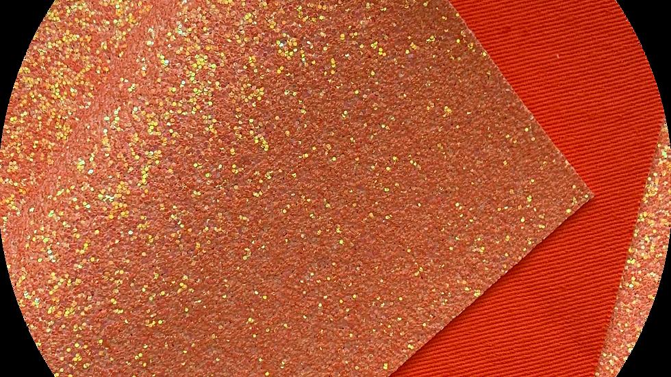 Chunky Glitter with matching backing ~ Orange