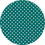 Thumbnail: Luxe Glitter Polka Dots ~Teal ~ 1.05mm Thickness