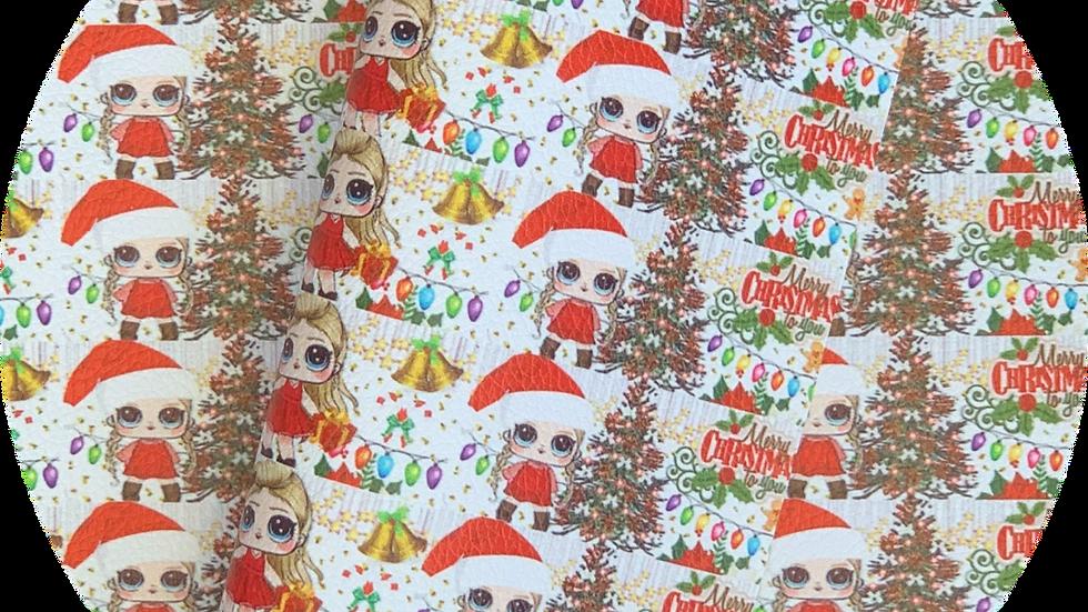Christmas Girls ~ Luxe Grain Litchin