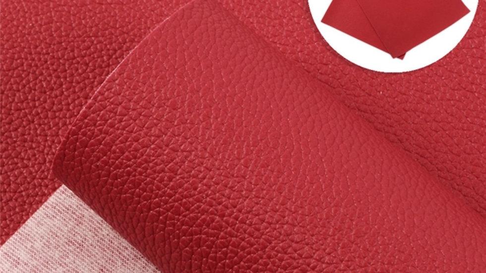Fine Luxe Grain Litchi ~Cherry Red