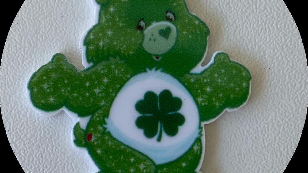 Green Care Bear ~ Planar Resin
