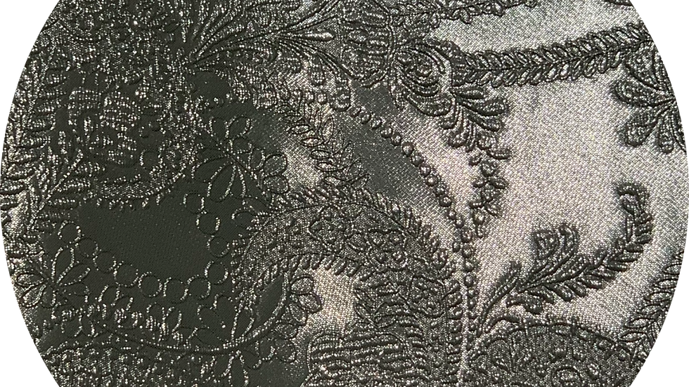 Luxe Embossed Leatherette ~ Sliver ~ 1.05mm Thickness