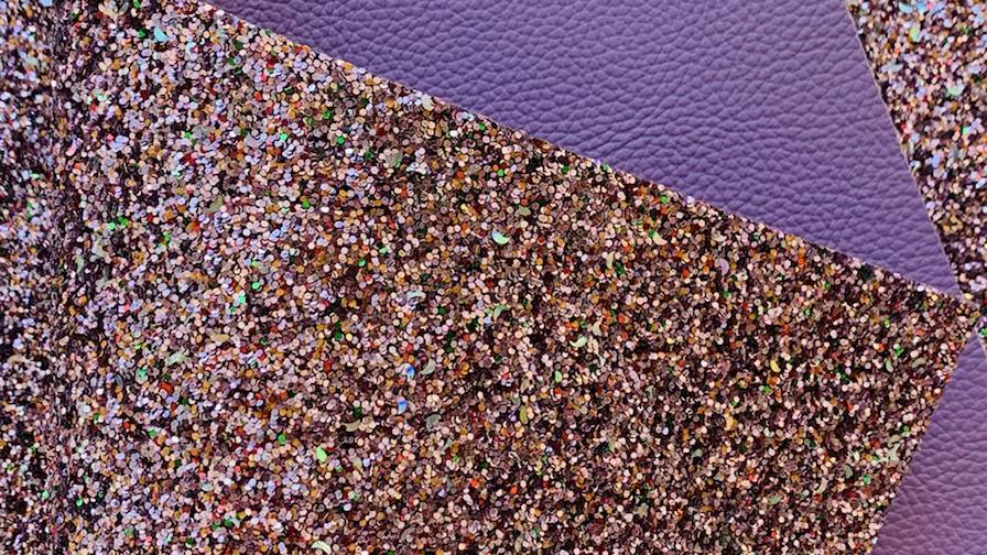 Purple Double sided Chunky Glitter