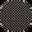 Thumbnail: Luxe Glitter Polka Dots ~Black ~ 1.05mm Thickness