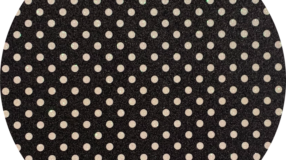 Luxe Glitter Polka Dots ~Black ~ 1.05mm Thickness