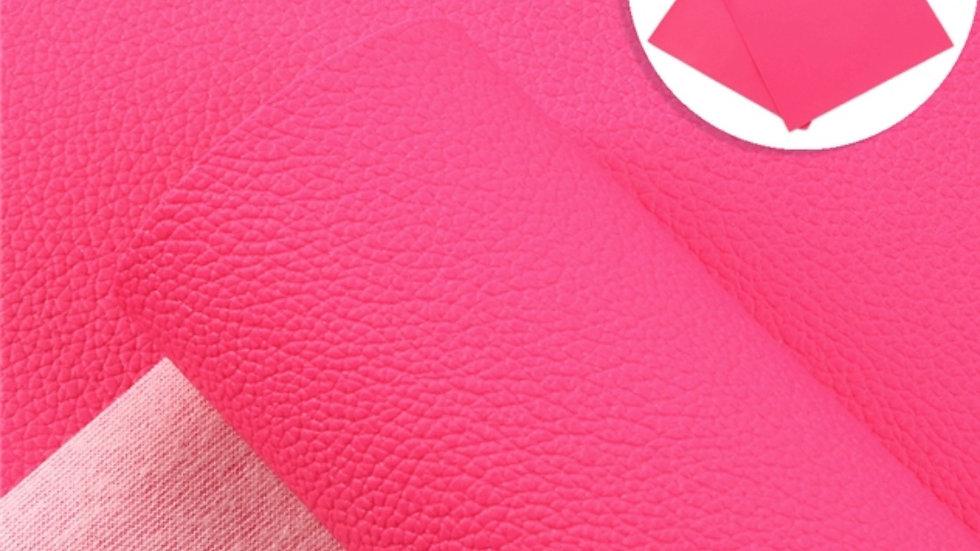 Fine Luxe Grain Litchi ~ Hot Pink