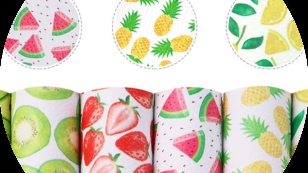 Half Sheet A5 Fruit Bundle ~ Luxe Grain Litchi