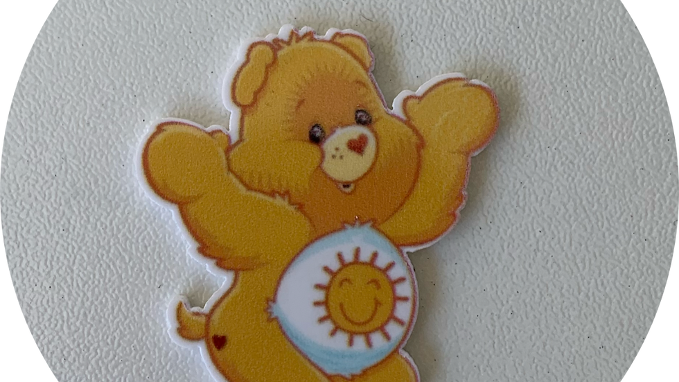 Yellow Care Bear ~ Planar Resin