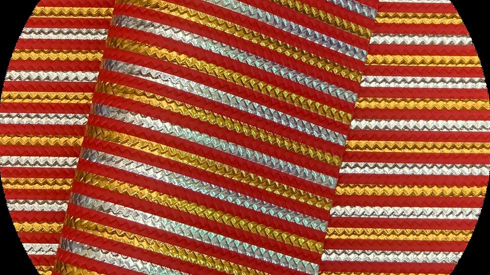 Embossed stripes