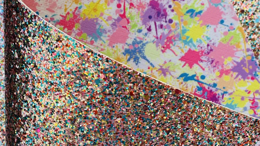 Paint bomb double sided chunky glitter