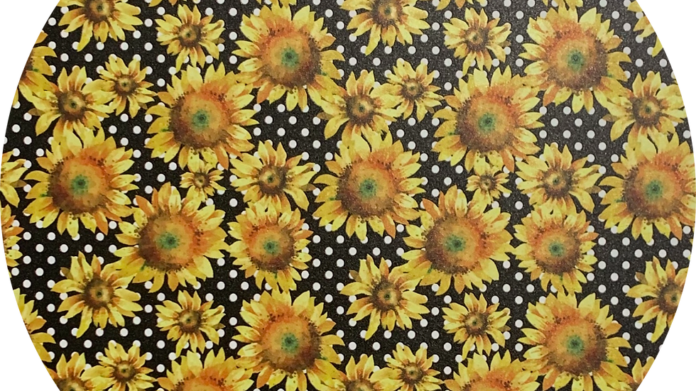 Sunflowers ~ Smooth Luxe Leatherette ~Black