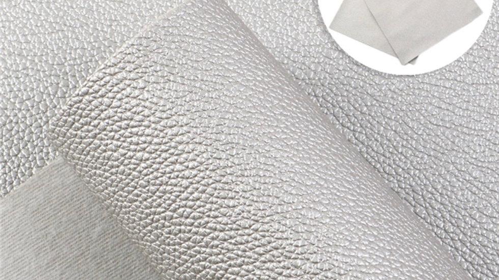 Fine Luxe Grain Litchi ~ Silver