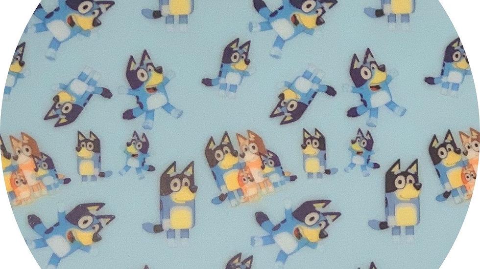 Bluey ~ Waterproof Sheets ~ Blue ~ 0.65 Thickness