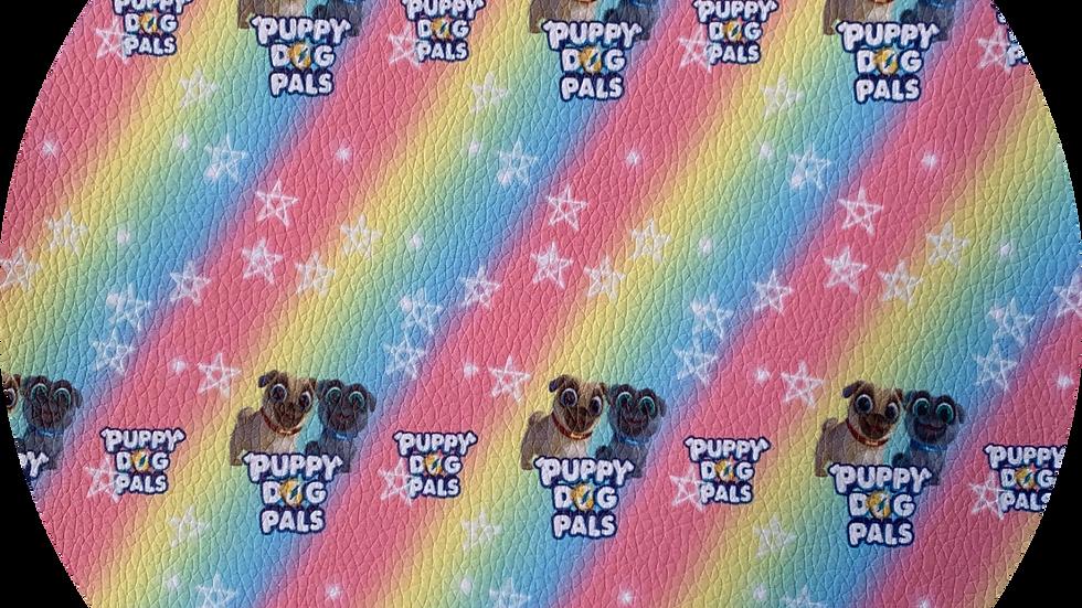 Puppies ~ Pink ~ Luxe Grain Litchi