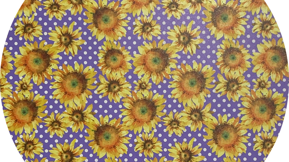 Sunflowers ~ Smooth Luxe Leatherette ~ Purple