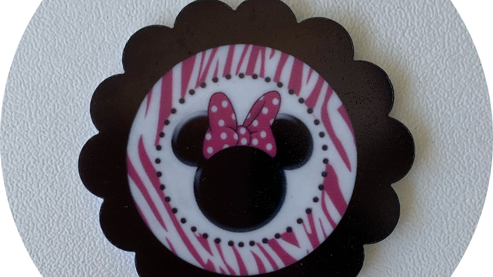 Minnie Mouse Pink & Black ~ Planar Resin