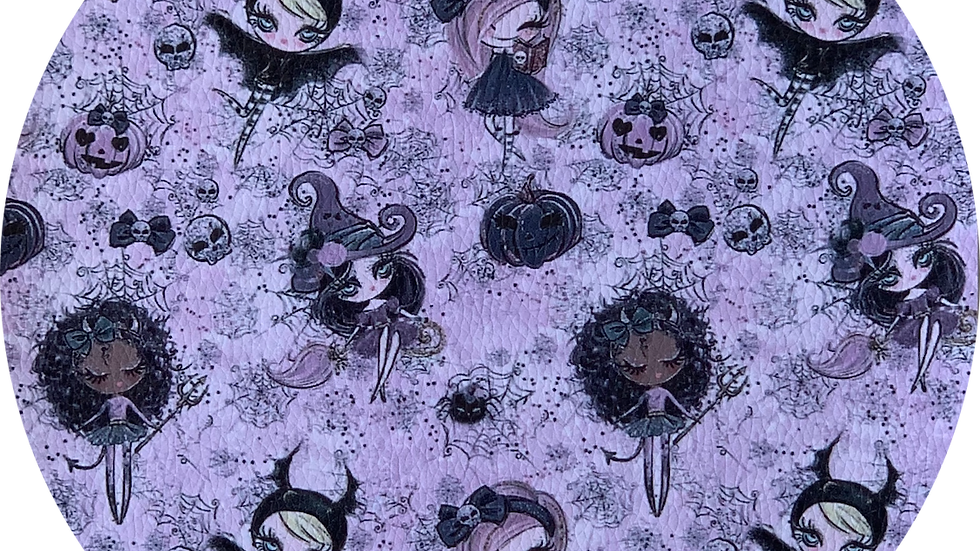 Halloween ~ Witches ~ Pink ~ Luxe Grain Litchi