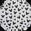 Thumbnail: Black & White Mouse ~ Leatherette