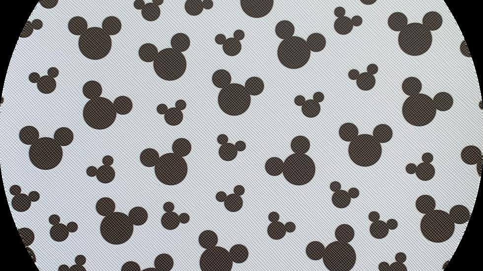 Black & White Mouse ~ Leatherette