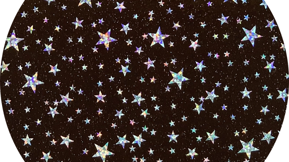 Holographic Stars ~ Transparent PVC ~