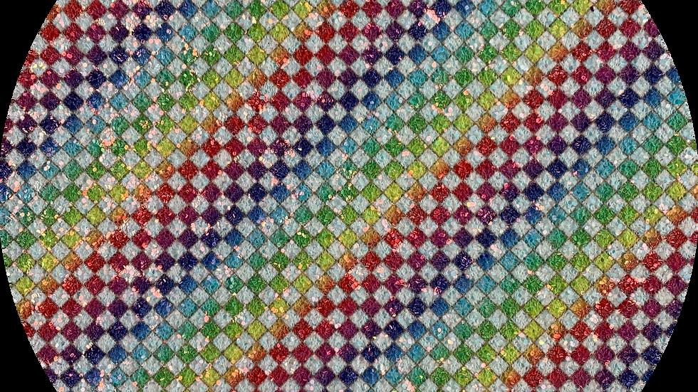 Chunky Plaid Glitter ~ Rainbow
