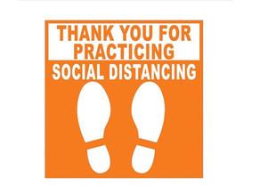 Let's work together to social distance