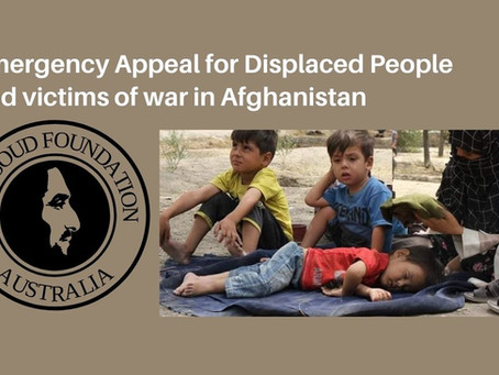 Emergency Appeal for Displaced Victims of War in Afghanistan