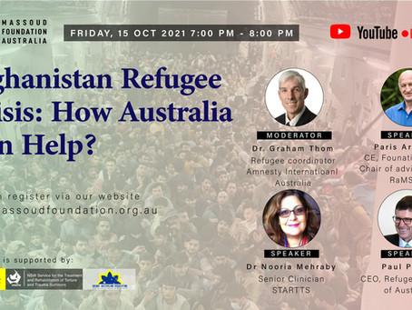 Afghanistan Refugee Crisis: How Can Australia Help?