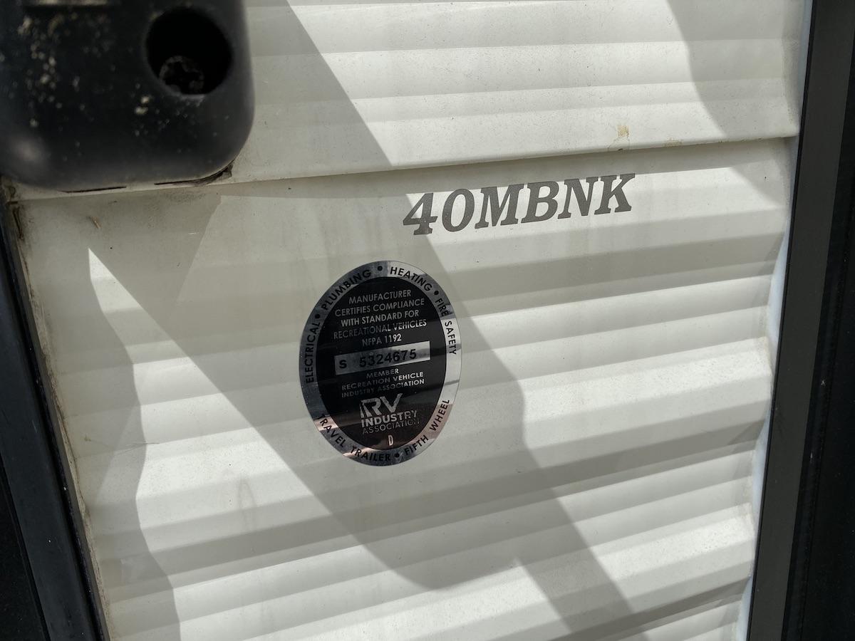 2019 Residence 40MBNK 105