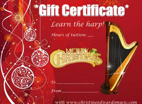 'Harpy Christmas' Gift Certificates