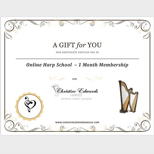 Gift Certificate - 1 Month Membership
