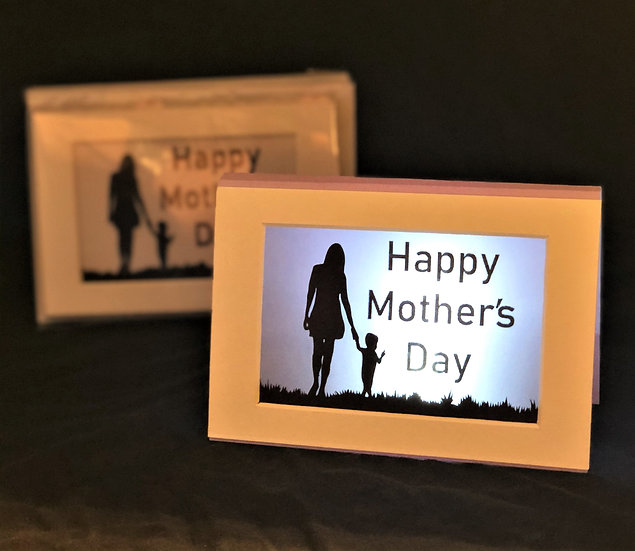 Light Up Mother's Day Card - Mother and child