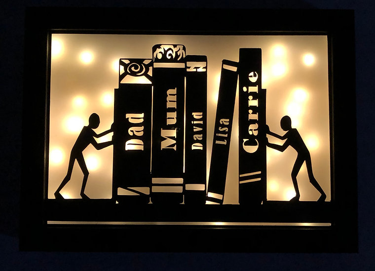 Personalised Book Shelf